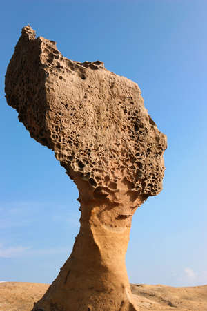 which: a rock which looks like a ladys head