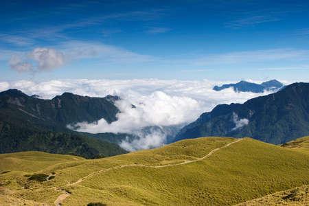 hight: footpath on the hight mountain