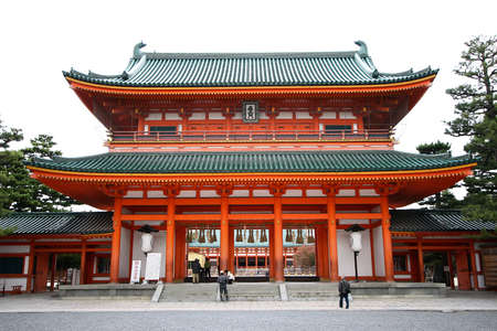 honshu: Heian Jingu Shrine Stock Photo
