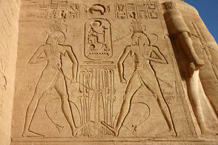 the carved of Abu Simbel Temple, Egypt photo