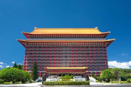 typical: typical chinese palace style hotel Editorial