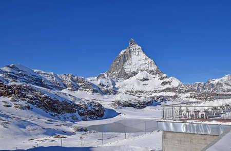 matterhorn: Matterhorn alpine peak Switzerland Stock Photo