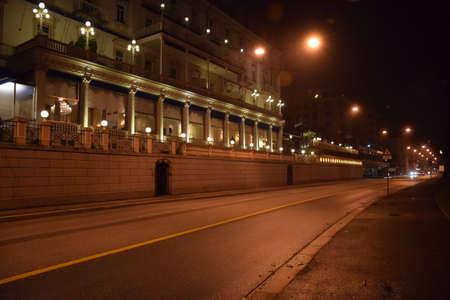lofty: A night view of road in Lugano Switzerland