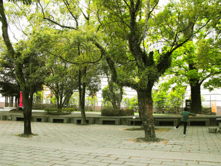 chan: Garden around the Chung-tai Chan Monastery, Taiwan Stock Photo