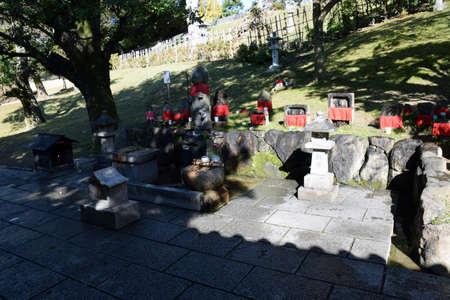 jizo: Jizo bodhisattvas, Kohfukuji temple, Nara, Japan Stock Photo