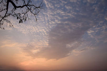 sunup: Beautiful sunup at Chiang Kan district, Loei province,Thailand Stock Photo