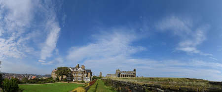 Panorama of Whitby Abbey, North Yorkshire, UK - Sep 2017