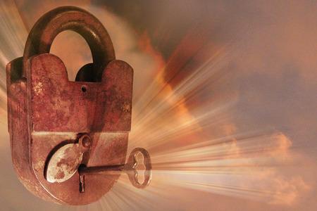 天国への秘密の鍵。 写真素材