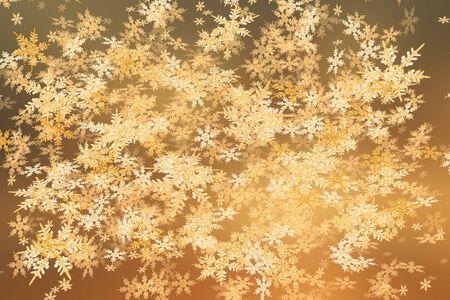 夕焼け色で降雪の背景を詳しく説明します。