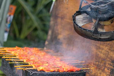 Grilled chicken thai food exhaust fan