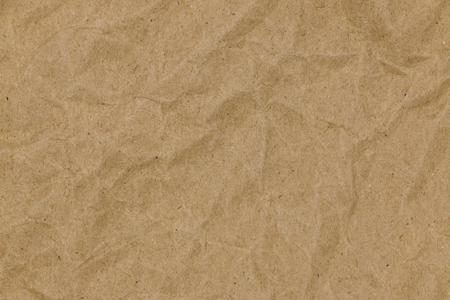 Closeup brown crumpled paper texture background Reklamní fotografie