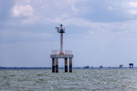 Sea surveillance tower in Surat Thani Thailand Reklamní fotografie