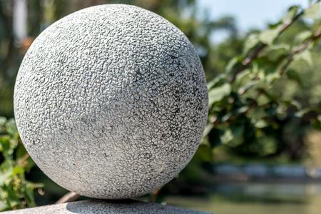 concrete stone ball white texture in garden