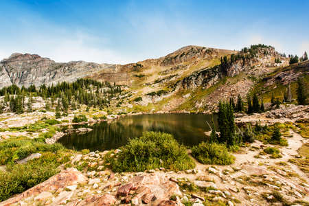 wasatch: Cecret Lake at Albion Basin of Cottonwood Canyons