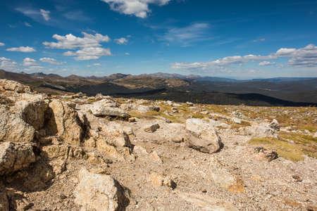 rocky mountains colorado: A landscape view of a peak in the Rocky Mountains, Colorado, USA