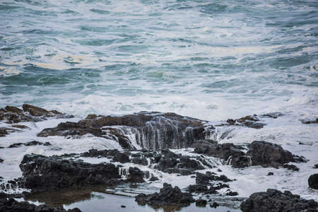 thor's: Thors well water sinking into hole in Cape Perpetua in Yachats Oregon
