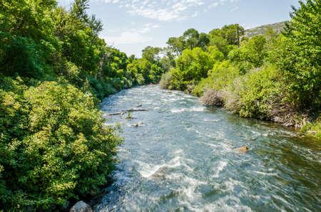 wasatch: Little Cottonwood Creek River in Utahs Wasatch Range