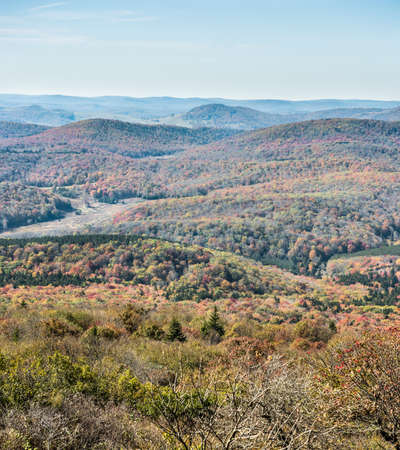 appalachian: Appalachian mountain valley view in West Virginia from Spruce Knob Stock Photo