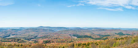 appalachian: Panorama of Appalachian mountain valley in West Virginia from Spruce Knob