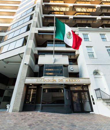 nafta: Washignton, DC, USA - March 4, 2017: Embassy of Mexico on Pennsylvania Avenue Editorial