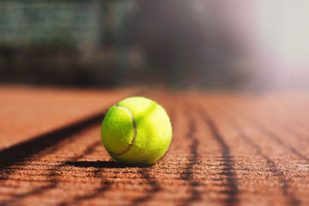 Close up of tennis ball Stock Photo