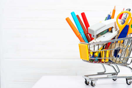 Back to School and Shopping concept Stock Photo