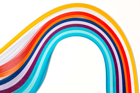 Rainbow colored quilling paper Stock Photo