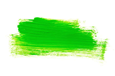 Hand drawn light green abstract acrylic background on white Stock Photo