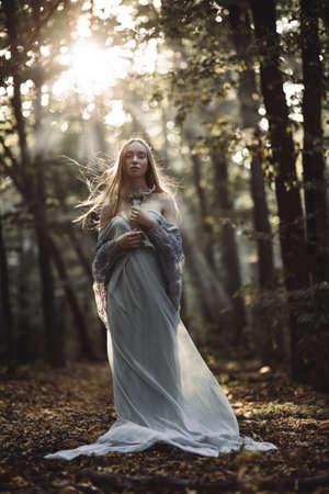 Fantasy portrait of fairytale beautiful woman.