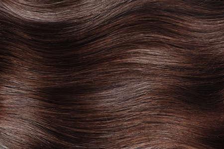 Brown hair close up.