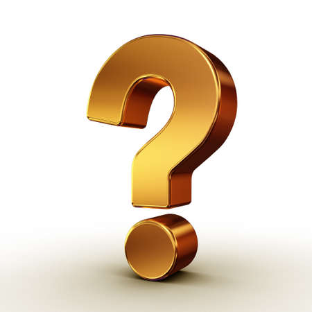 asking questions: question mark