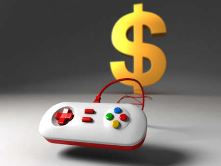 financial controller: the rise of the video game industry Stock Photo