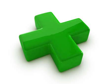 red cross: Sign a cross