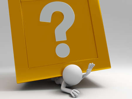 shopping questions: A 3d people was pinned the question box