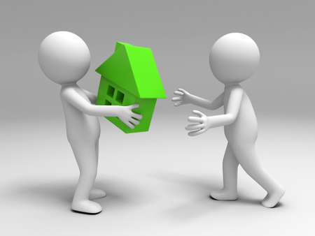 real estate people: A 3d people brought the house to the other