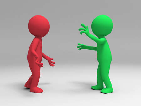 argumentation: Two men in the debate