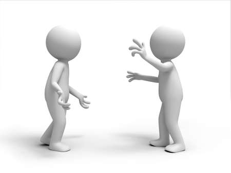 argumentation: Two men in the debate