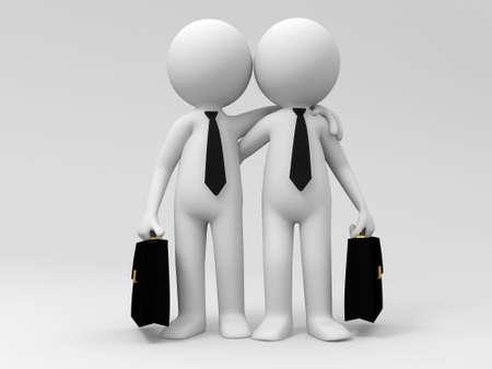 two men: Two businessmen shoulder to shoulder