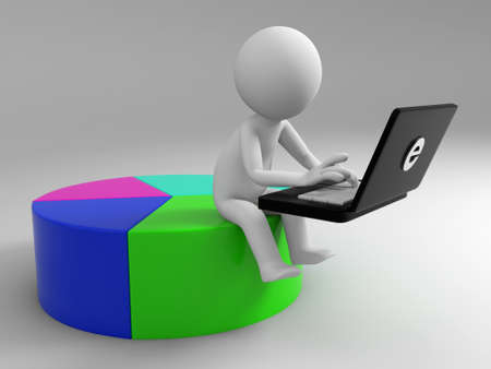 A 3d people using a computer Stock Photo - 15405178