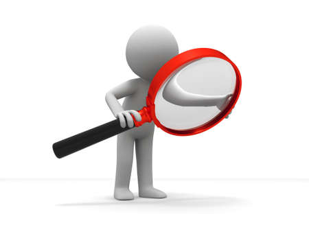 magnifying glass: A person is using the magnifying glass