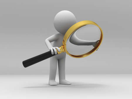 investigate: A person is using the magnifying glass