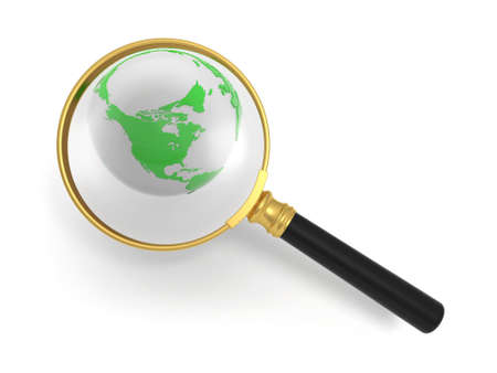 zoom earth: Magnifying glass and the earth