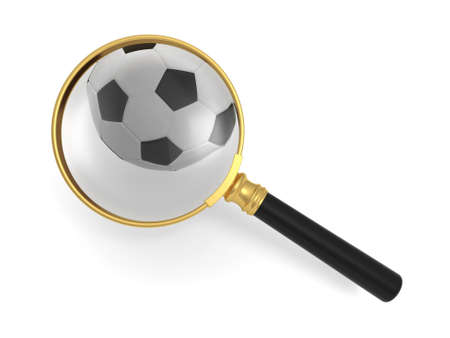 Magnifying glass and the footbao photo