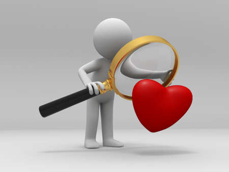 A person when looking at a heart Stock Photo - 15390391