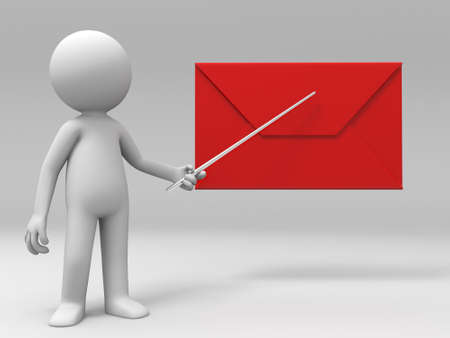 red envelope: A man is explaining the letter