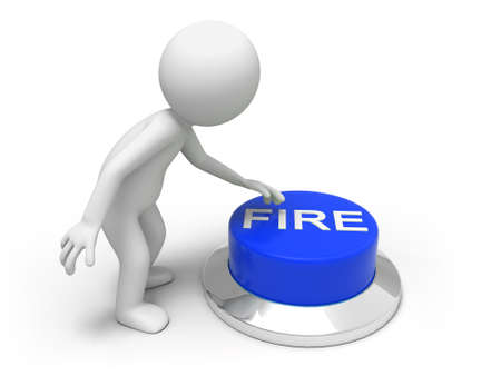 fire  A man is pushing the button Stock Photo - 15453957