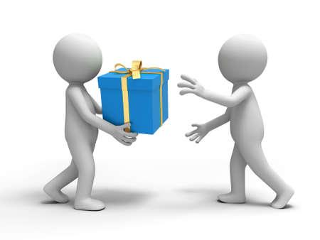 dar un regalo: Una persona que presente a su amigo
