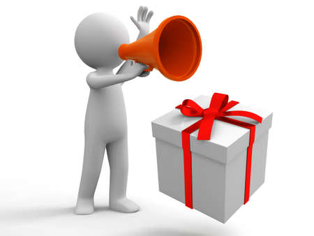 Gift  A people in using the megaphone photo