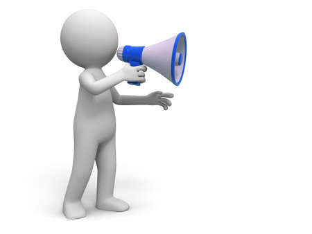 expostulate: Promotion   A people in using the megaphone Stock Photo