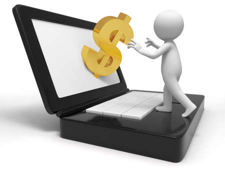 pay money: Gift  a people to receive dollars from the computer